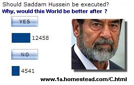 Governmental Necrophilia ! There is 1 billion Saddam Hussein in the World...
