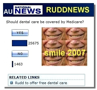 Kevin Rudd is trying Göran Persson,s dental trick from Sweden before the election