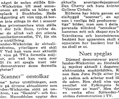 And Who was Nam June Paik ? The journalist could not even spell his name nor did we know who he was...1966 Swedish Main Newspaper
